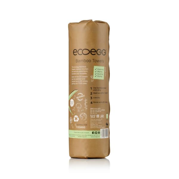 Back of bamboo reusable towel
