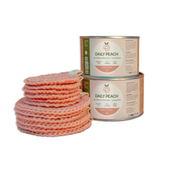 Daily Peach cotton rounds small and medium