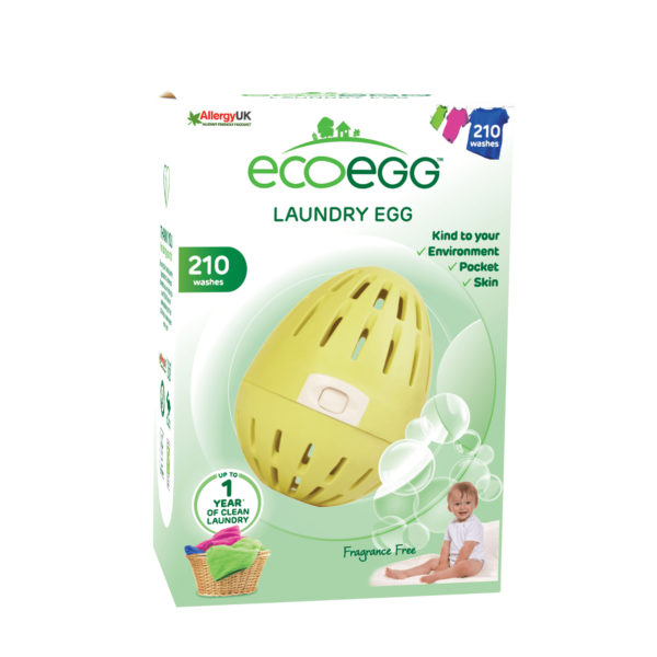 Yellow laundry egg in box