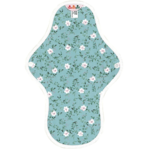Floral patterned medium cloth pads