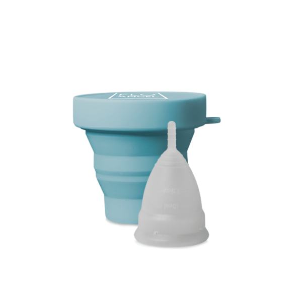 Menstrual cup and holder
